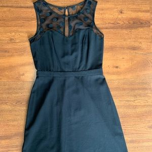 Lauren Conrad size 4 black dress with sheer top